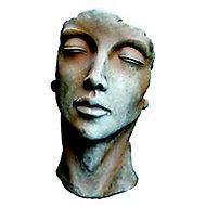 Statue Visage Femme effet rouille H.50 cm