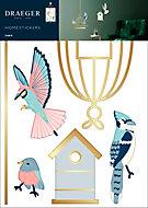 Sticker Finition Gold Oiseau 49x69 cm