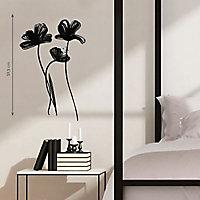 Sticker Fleurs noires 49 x 69 cm