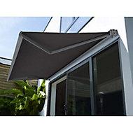 Store de terrasse coffre motorisé Cendre 5 x 3,5m