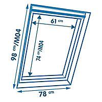 Store duo fenêtre de toit Geom M04 gris