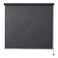 Store enrouleur occultant Colours Ilas polyester gris 90 x 180 cm