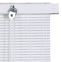 Store enrouleur tamisant bois tissé Ballauff blanc 60 x 180 cm