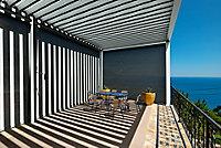 Store façade gris pour pergola Oviedo blanc 6m (lot de 2)