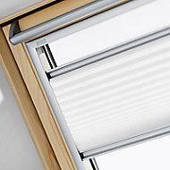 Store semi-occultant plissé fenêtre de toit Velux FHL 804/U04