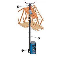 Support au toit ø130 mm SLCD Poujoulat