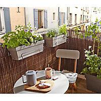 Support balconnière universel gris 41,5 x 22 cm