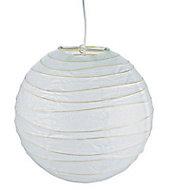 Suspension boule chinoise blanc l.48 cm