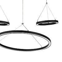 Suspension Taphao 3 lampes LED intégrée noir