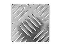Tôle aluminium brut damier 100 x 50 cm