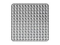 Tôle aluminium brut diamant Ep. 0,5 mm, 100 x 50 cm