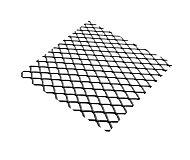 Tôle métal déployé acier brut Mailles 10 x 5,5 mm, 100 x 50 cm