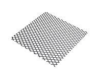 Tôle métal déployé acier brut Mailles 6 mm, 50 x 25 cm