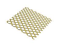 Tôle métal déployé aluminium anodisé doré Mailles 10 mm, 50 x 25 cm