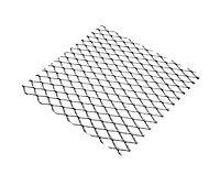 Tôle métal déployé aluminium brut Ep. 0,8 mm Mailles 10 x 5,5 mm, 100 x 50 cm