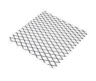 Tôle métal déployé aluminium brut Mailles 10 mm, 50 x 25 cm