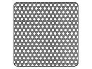 Tôle perforée aluminium Ep. 1 mm, 500 x 250 mm