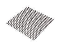 Tôle perforée carré acier brut Perforation 5,5 x 5,5 mm, 100 x 50 cm