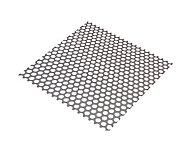 Tôle perforée rond acier brut Perforation 8 mm, 100 x 50 cm