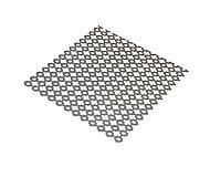 Tôle perforée trèfle acier brut Ep. 1 mm, 100 x 50 cm