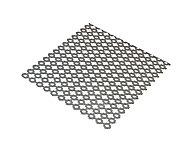 Tôle perforée trèfle acier brut Perforation 8 mm Ep. 1 mm, 50 x 25 cm