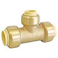 Té réduit à clipser pour tube cuivre ou PER ou Multicouche Ø16-Ø14-Ø16