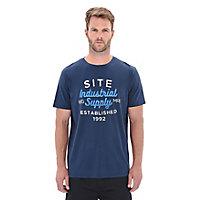 T-shirt imprimé bleu marine Site taille XL