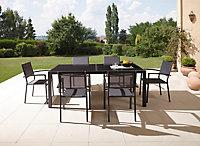 Table de jardin Baru grise 200/300 x 100 cm