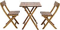 Table de jardin en acacia GoodHome Virginia 60 x 60 cm