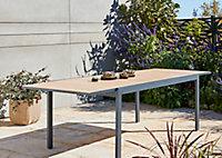 Table de jardin en aluminium Morlaix 180/270 x 100 cm