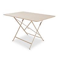 Table de jardin en métal Bistro muscade pliante 117 x 77 cm Fermob