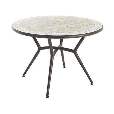 table de jardin en metal et marbre sofia o110 cm