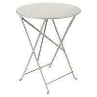 Table de jardin en métal Fermob Bistro ø60 cm gris argile