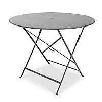 Table de jardin en métal Fermob Bistro ø96 cm carbone