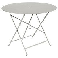 Table de jardin en métal Fermob Bistro ø96 cm gris argile