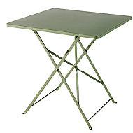 Table de jardin en métal GoodHome Saba kaki 70 x 70 cm