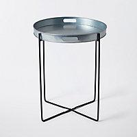 Table de jardin en métal Rural ø46 cm