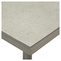 Table de jardin métal rectangulaire Blooma Katalla grise 162 x 82 cm