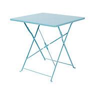 Table de jardin Saba 70 x 70 cm bleu clair