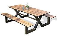 Table de pique-nique en aluminium et HPL Vancouver DCB Garden