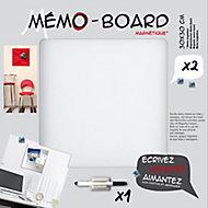 Tableau mémo board blanc 30 x 30 cm