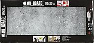 Tableau mémo board effet béton 30 x 80 cm