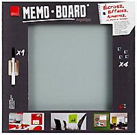 Tableau mémo board gris 50 x 50 cm