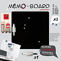 Tableau mémo board noir 30 x 30 cm