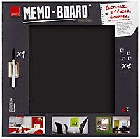 Tableau mémo board noir 50 x 50 cm
