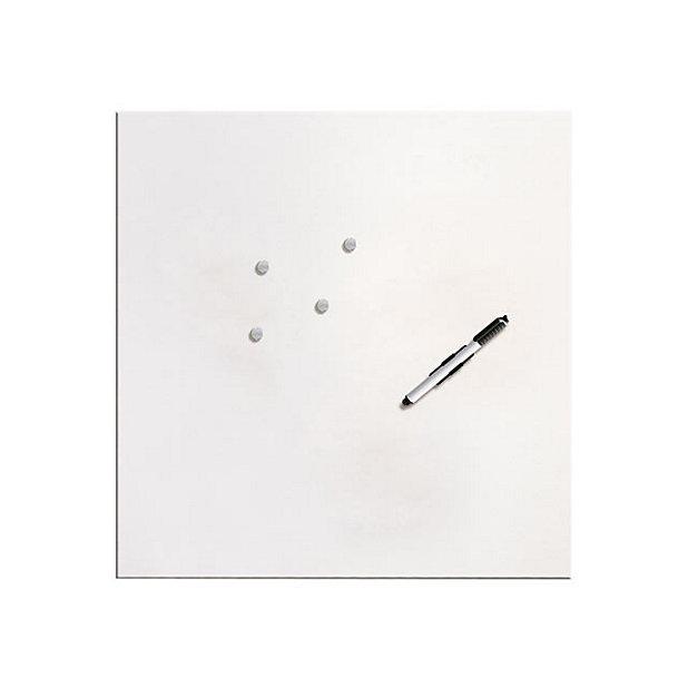 Tableau Pense Bete En Verre Memoboard Blanc 50 X 50 Cm Castorama