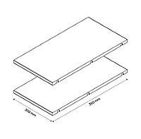 Tablette d'angle blanche GoodHome Atomia L. 30,8 x P.56,2 cm