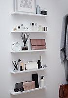 Tablette pour cadres photo Form Rigga blanc 60 cm