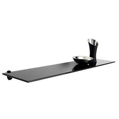 tablette verre trempe laque noir form olympe 80 cm