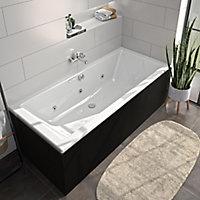 Tablier de baignoire frontal noir Allibert Fix'alu 180 cm